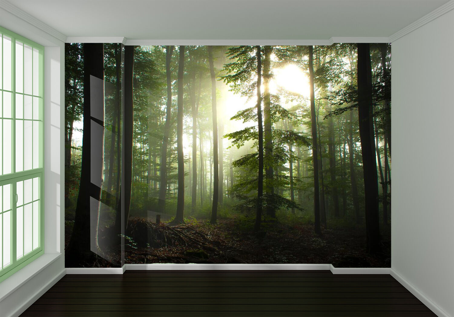 3D Sunny Forest Green Nature 74 Wall Paper Wall Print Decal Wall AJ WALLPAPER CA