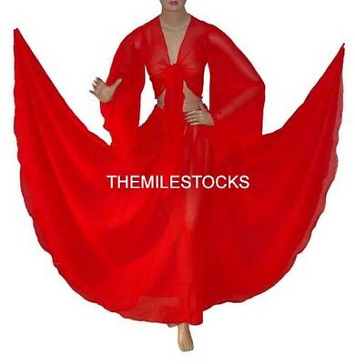TMS CORAL Chiffon Skirt Top Belly Costume Tribal Dress ROBE JUPE Dance EHS CST1