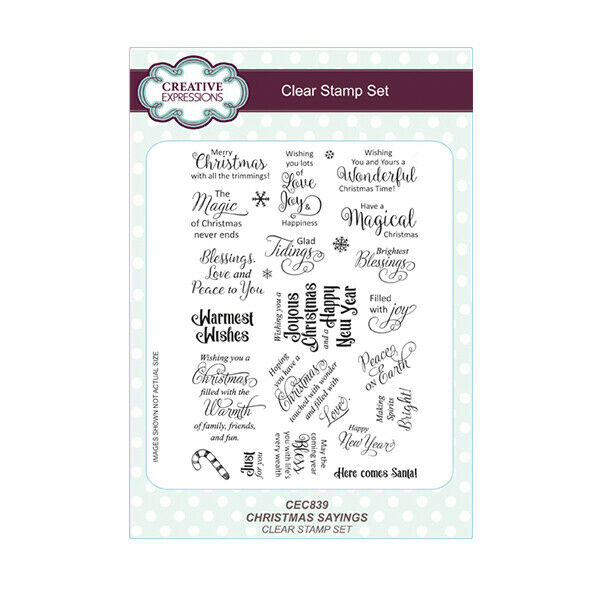 Christmas Sayings.Creative Expressions Christmas Sayings A5 Clear Stamp Set Cec839