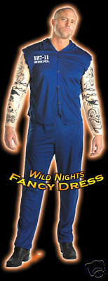 XL FANCY DRESS COSTUME D TATTOOED CONVICT LG