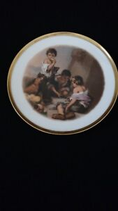 Antique-Vintage-JWK-Bavaria-Plate-West-Germany-Josef-Kuba-Porcelain-1930