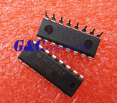 10PCS CD4510 CD4510BE CMOS PRESETTABLE UP//DOWN COUNTERS DIP16 NEW
