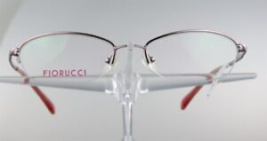 FIORUCCI-FO-3011-Brille-Brillengestell-Pink-Halbrand-Damen-Metall-Eyeglasses-NEU
