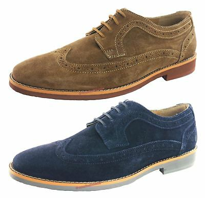 silver street lombard suede leather lace up mens brogue