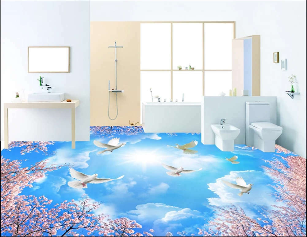 Endless  Insidious Sky3D Floor Mural Photo Flooring Wallpaper Home Print Decor