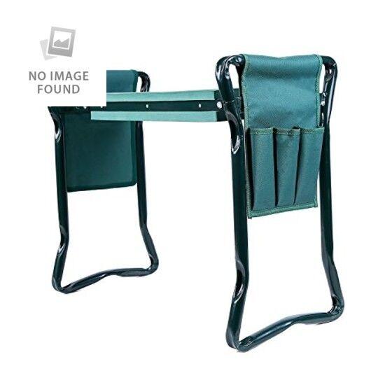 Garden Kneeler Pad and Garden Chair Seat with 2 Tool Pouches Lightweight Grün