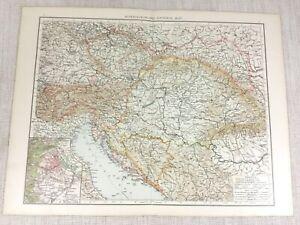 1898-Ancien-Carte-de-Autriche-Hongrie-Austro-Hongrois-Empire-Vieux-19th-Siecle