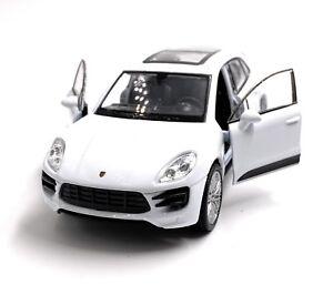Porsche-Macan-Turbo-SUV-Modellino-Auto-Auto-Bianco-Scala-1-3-4-Licenza