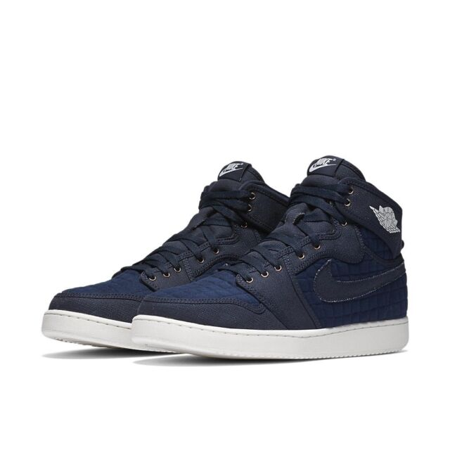 new products afe9f 5b016 Nike Air Jordan 1 Aj1 KO High OG Quilted Sz 10 Obsidian Blue White 638471  403