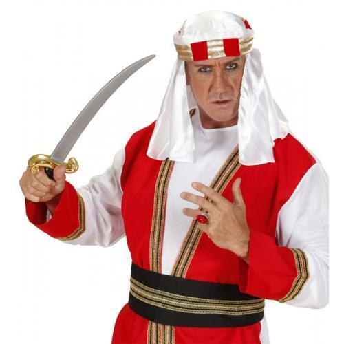 White Arab Headpiece Middle East Arabian Fancy Dress Accessory