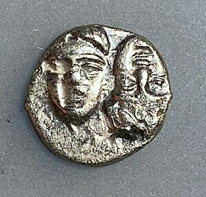 MOESIA-Istros-Circa-340-30-313-BC-Silver-Diobol-aXF