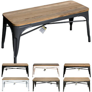 Details About Industrial Bench Seat Metal Rustic Vintage Furniture Tolix Style Coffee Table