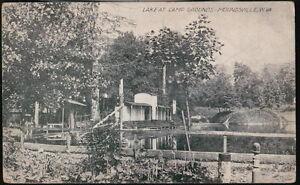 MOUNDSVILLE-WV-Camp-Grounds-Lake-Antique-B-amp-W-Postcard-Old-West-Virginia-VA