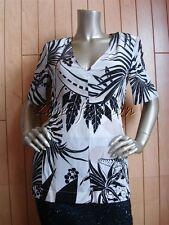 $795 New STELLA McCARTNEY Black White Taupe Tropical Print Silk Shirt Top 8 42
