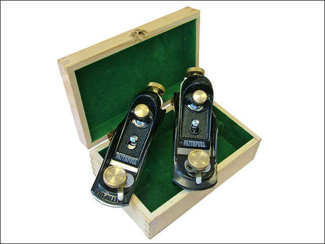 FAITHFULL 9.1/2 and 60.1/2 BLOCK PLANE SET + WOODEN CASE - FAIPLANEBPS