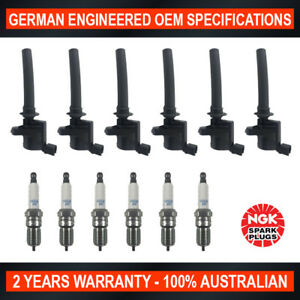 6x-Genuine-NGK-Platinum-Spark-Plugs-amp-6x-Ignition-Coils-for-Ford-Escape-BA-ZA
