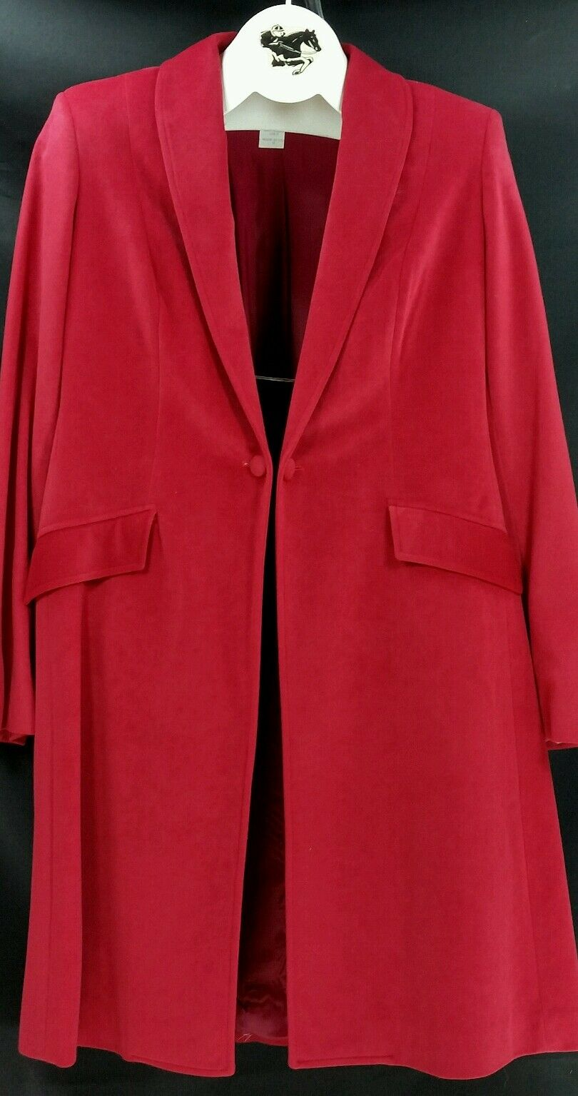 Reed Hill Saddleseat Day Coat Ladies CRANBERRY ultra suede 16 - USA