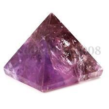 Amethyst Crystal Healing Orgone Pyramid Quartz Clear Crystal Pyramid Purple 20mm
