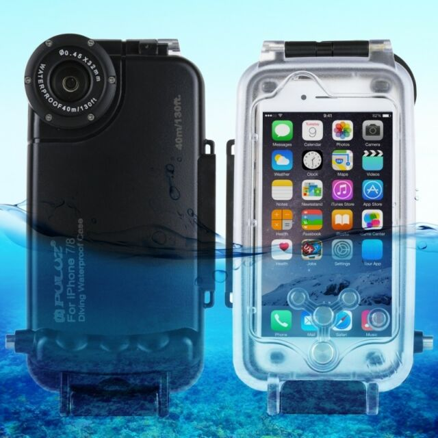 PULUZ for iPhone 8&7 40m/130ft Waterproof Diving Housing Underwater Cover Case