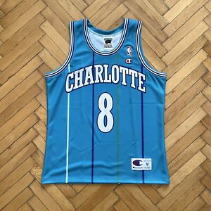 Kobe Bryant Charlotte Hornets CUSTOM NBA Champion Jersey M mamba ...