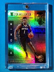 Zion-Williamson-ROOKIE-PANINI-ILLUSIONS-HOLOFOIL-REFRACTOR-FINISH-RC-Mint