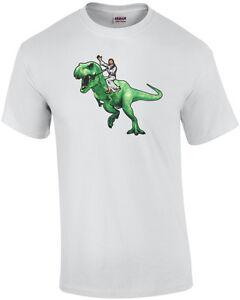 Jesus-Riding-a-Dinosaur-T-Shirt