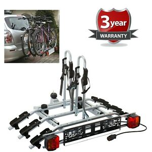 WNB-3-Bike-Platform-Cycle-Carrier-60KG-Load-Carrier-Bikes-Tow-Bar-Hitch-Mounted
