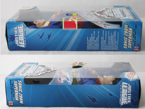"""SUPERMAN 2004 JUSTICE LEAGUE SONIC ZOOM ELECTRONIC 12/"""" FIGURE MATTEL NEW SEALED"""