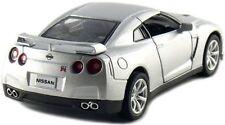 "Brand New 5"" Kinsmart 2009 Nissan GT-R R35 Diecast Model Toy Car 1:36 Silver"