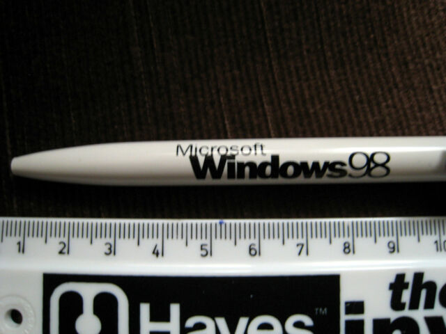 MICROSOFT WINDOWS 98 PROMOTIONAL PEN NEVER USED A001t2r5