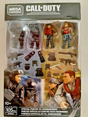 MEGA CONSTRUX CALL OF DUTY SPECIAL FORCES VS SUBMARINERS GFW67-105 PCS.