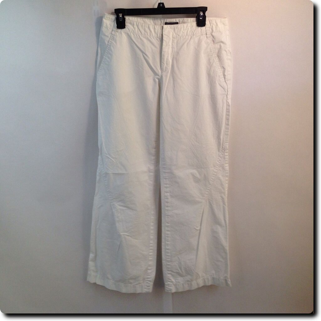 Armani Exchange White Embroidered Pants 10