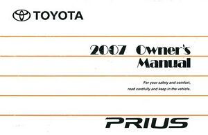 2007 toyota prius owners manual user guide reference operator book rh ebay com Toyota Service Coupons 2010 prius owners manual