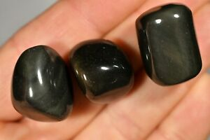 3-RAINBOW-OBSIDIAN-Tumbled-Stones-2-3cm-28g-Healing-Crystals-Protection