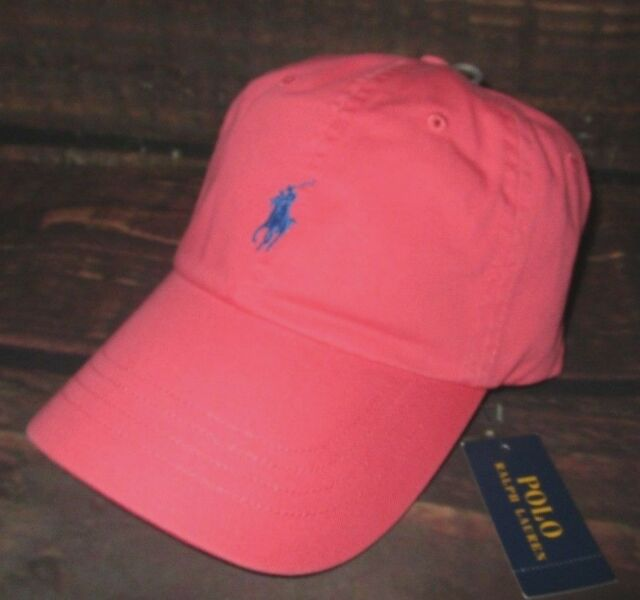 60216e25df4 Mens Polo Ralph Lauren Coral Strapback Cap Adjustable Hat for sale ...