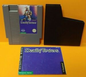 Deadly-Towers-Nintendo-NES-Game-Manual-Dust-Cover-Rare-Tested-Auth