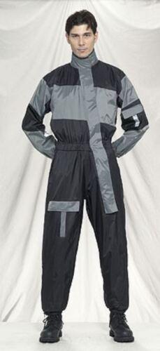 Gray Biker Reflective Waterproof//Windproof Gear Motorcycle One Piece Rain Suit