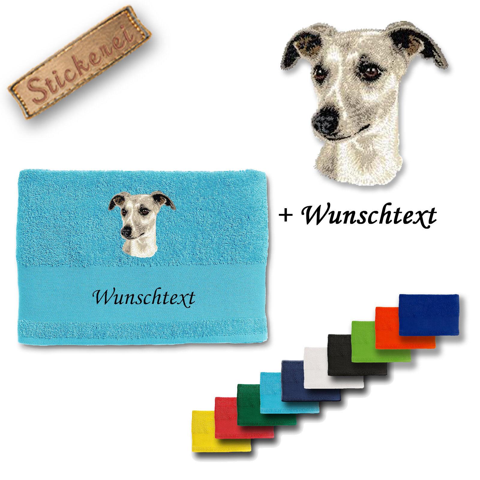 negozio online Doccia Asciugamano Whippet M1 cotone ricamato RICAMO + testo personalizzato personalizzato personalizzato  moda