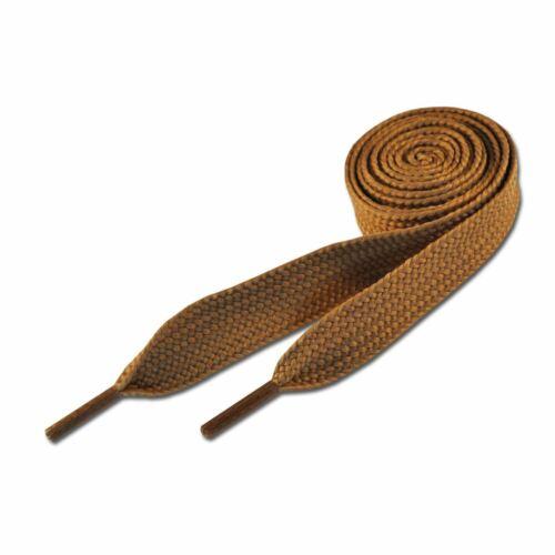Super Fat Coloured Flat Skate Shoe Laces Shoelaces Light Brown