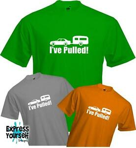 I-039-ve-Pulled-Funny-Camping-Caravanning-Quality-T-shirt
