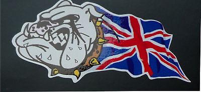 British Bulldog Union Jack Custom 50mm Handed Stickers Ebay