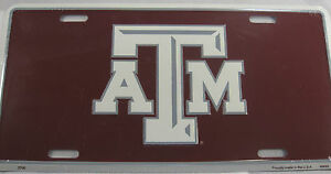 TEXAS A AND M AGGIES ALUMINUM LICENSE PLATE SIGN & L366