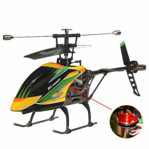 WLgiocattoli V912 4CH Brushless RC  Helicopter With Gyro BNF - verde  outlet
