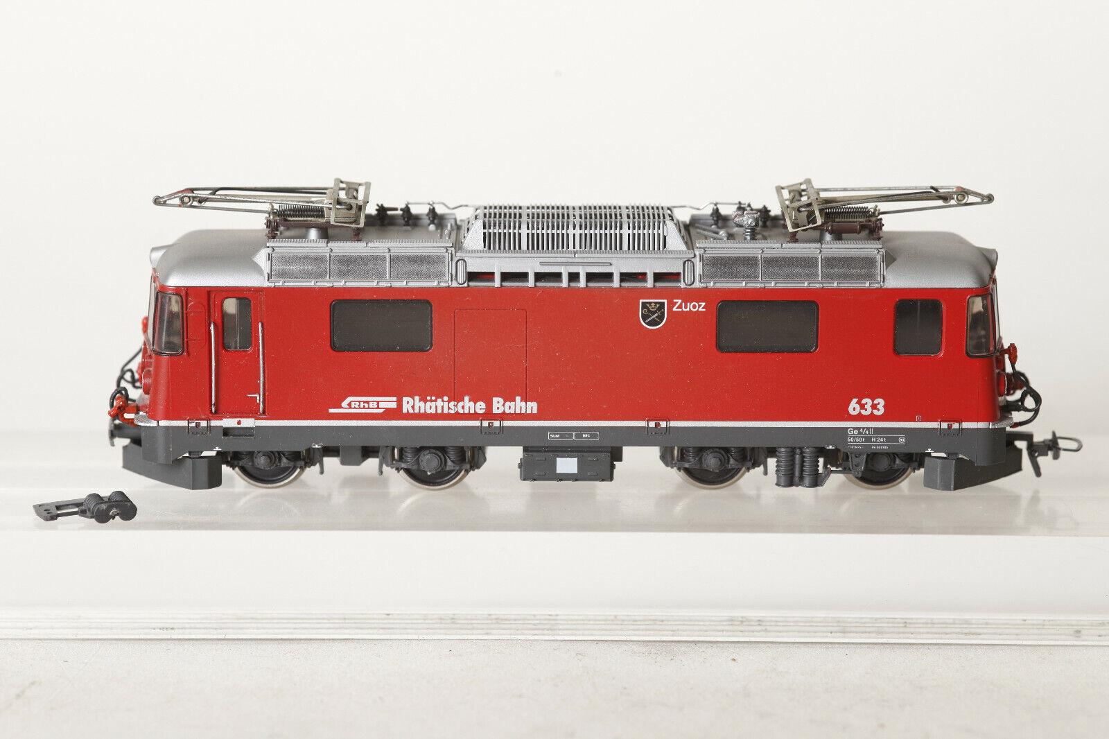 Bemo H0m 1258 123 Locomotora Eléctrica Rhb Zuoz N º 633 Rojo Ge 4 4 i (93798)
