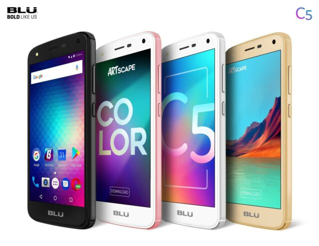 Blu C5 Android Cell Phone Factory Unlocked Dual SIM 4G Smartphone 8GB Memory ROM
