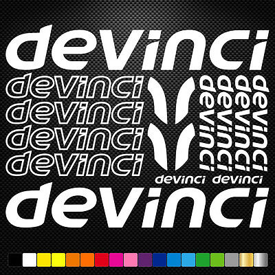 Devinci Vinyl Decals Stickers Sheet Bike Frame Cycle Cycling Bicycle Mtb Road