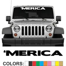 #MERICA Vertical Windshield VINYL DECAL Sticker DIESEL Truck Car MERICA USA Flag