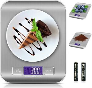 BILANCIA DA CUCINA DIGITALE ELETTRONICA PROFESSIONALE LCD TARA ACCIAIO INOX 5KG