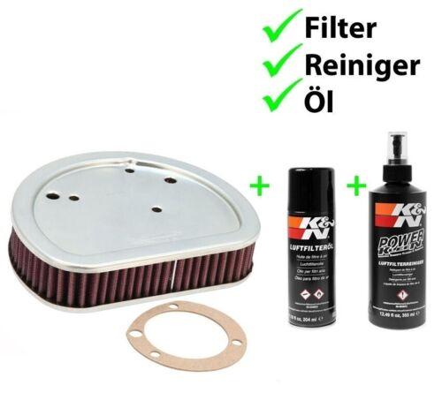 K/&N Tausch Luftfilter PFLEGESET HD-1611 Harley FXS 1584 Softail Blackline ABS 2