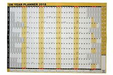 A1 Large 2018 Year Wall Planner for Home/office work unmounted calendar